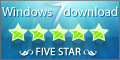 Windows7Download Five Star Award