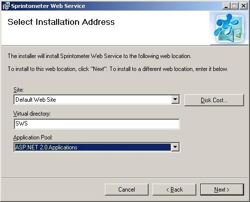 IIS Configuration Screen